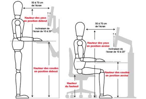 hauteur standard bureau hauteur standard bureau ordinateur best 25 achat bureau