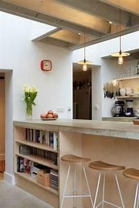 decouvrez nos 84 jolies propositions pour cuisine avec bar With kitchen cabinets lowes with papier peint bibliotheque