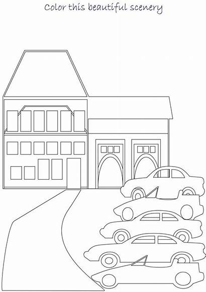 Scenery Coloring Pages Sceneries Pdf Open