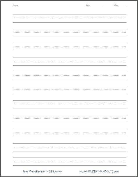handwriting worksheets blank