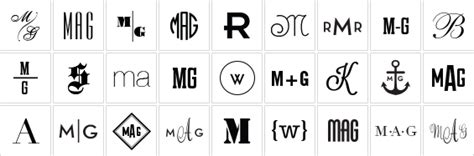 monogram guide  letters   middle    guys girls marriages