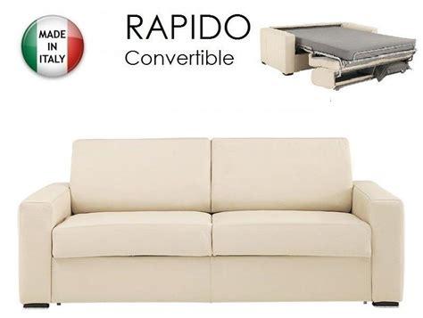 canapé convertible rapido fly canape convertible ouverture rapido 140cm dreamer cuir eco