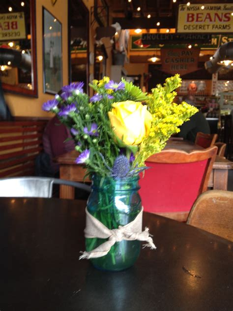 Order delivery from big city coffee on 1416 w grove st, boise, id. Mason jar arrangement, from Big City Coffee in Boise, Idaho. | Mason jar arrangements, Table ...