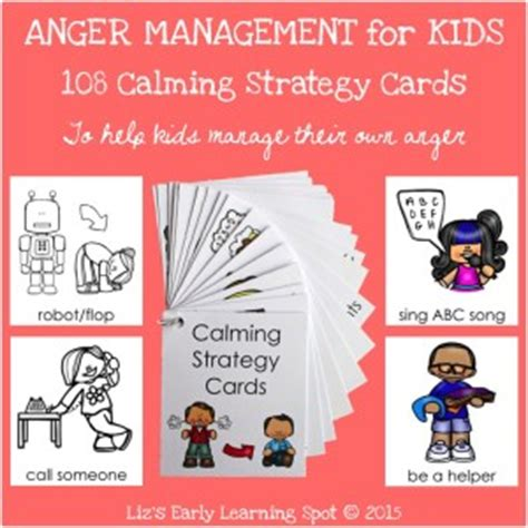 anger management 23 free calming strategy cards 382 | 108 calming strategy cards 300x300