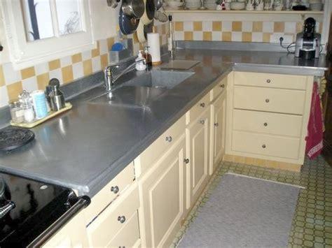 cuisine en zinc création de mobiliers en zinc salle de bain évier lavabo