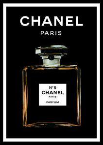chanel     black perfume art print poster canvas