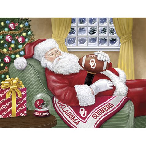 college christmas college napping santa cards the danbury mint
