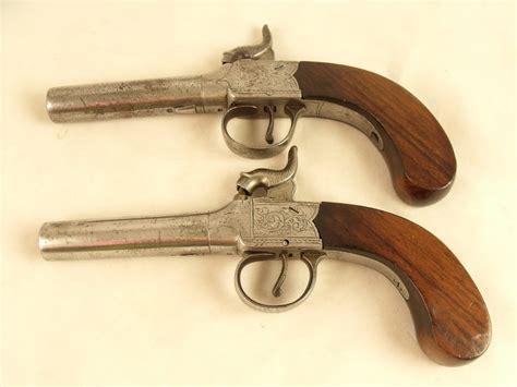 antiques atlas pair  early   pocket pistols
