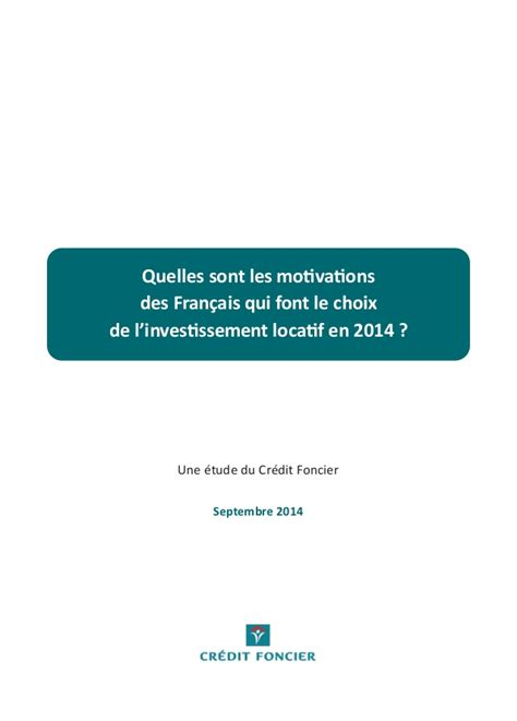 credit foncier si鑒e social etude du crédit foncier sur l 39 investissement locatif en