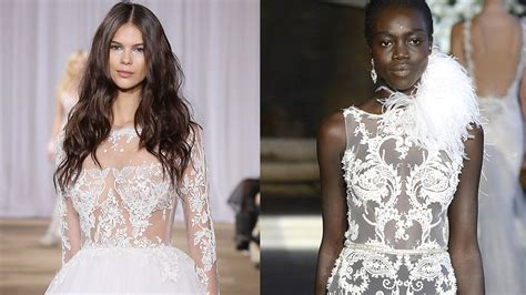 Bridal Fashion Week Gowns Go For Sexy