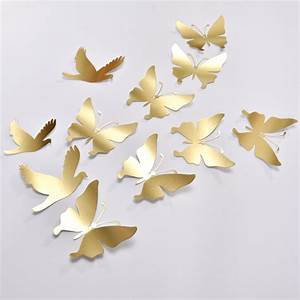 Gold butterfly wall decor wedding