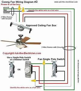 Ceiling Fans Wiring Diagrams Two Switches
