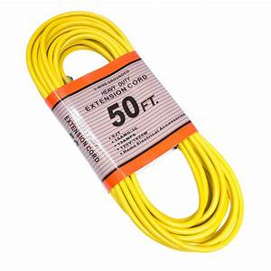50 U0026 39  Extension Cord  3 Wires  Grounded  13 A  125 V Yellow