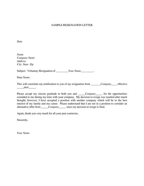 Resignation Letter Samples Download PDF, DOC Format | Templates Microsoft Office 2020