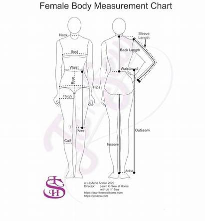 Measurement Chart Printable Sewing Measurements Take Female