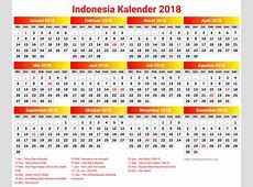 10+ desain kalender 2018 Indonesia lengkap dengan hari