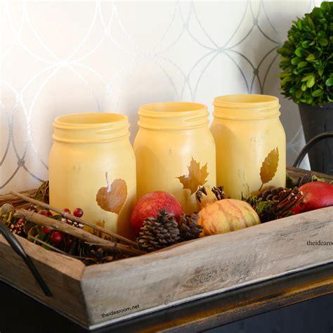fall decor painted mason jars  idea room