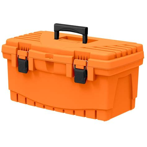 Diy Kitchen Storage Ideas - the home depot 19 in plastic tool box with metal latches and removable tool tray 17331512 the