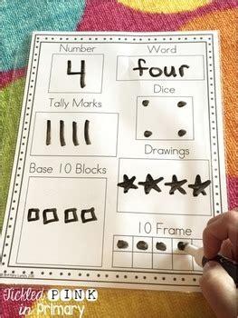 number sense   worksheets  tickled pink  primary