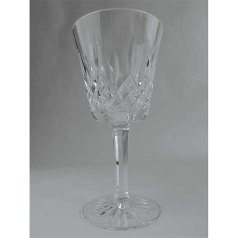 waterford lismore crystal stemmed wine glass  inches