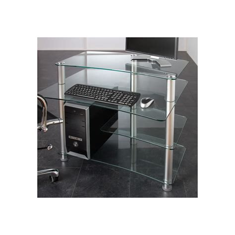 bureau table verre design verre table d 39 ordinateur bureau pc bureau table