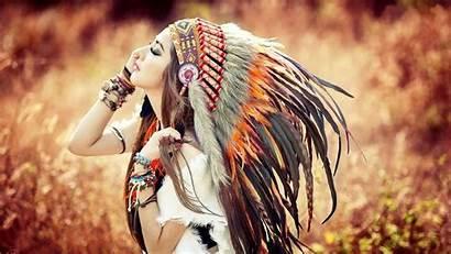 Native Americans Anime Wallpapers Headdress Brunette American
