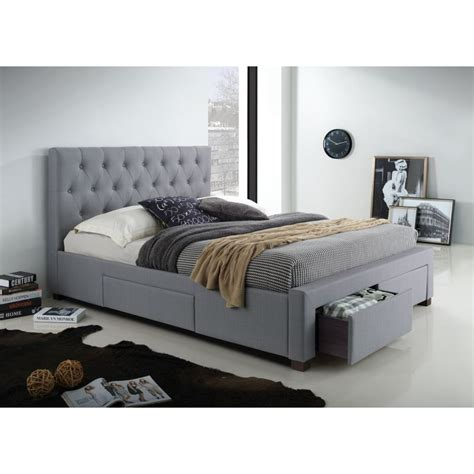 polo double fabric upholstered bed head light grey buy