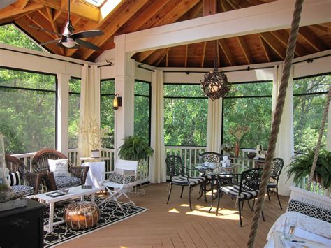 glamorous screened in porch ideas in porch rustic with