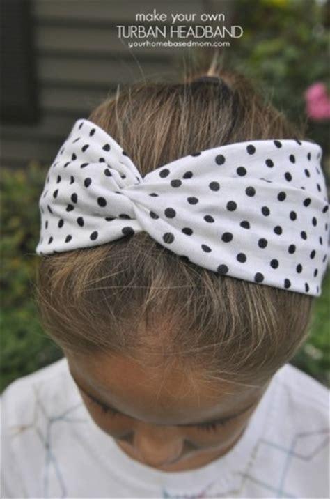 turban headband tutorial  printableactivity day idea  homebased mom