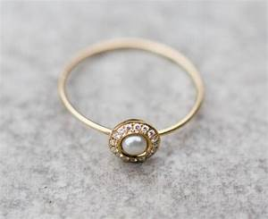 white pearl wedding ring with diamonds in 14k gold pearl With wedding rings pearl