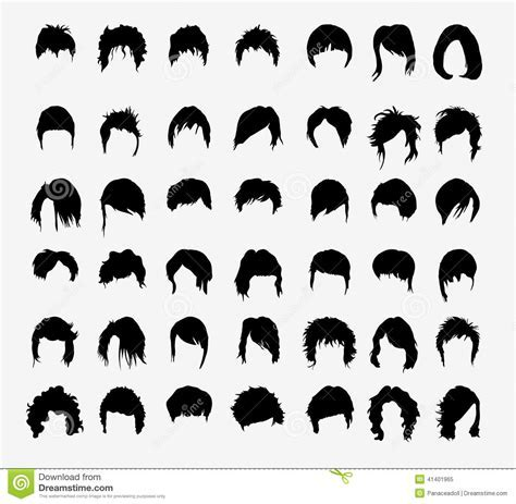 Vector Set Of Women's Hairstyles Stock Vector   Image