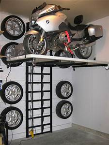 Motorcycle storage lift, how to build a shed under your