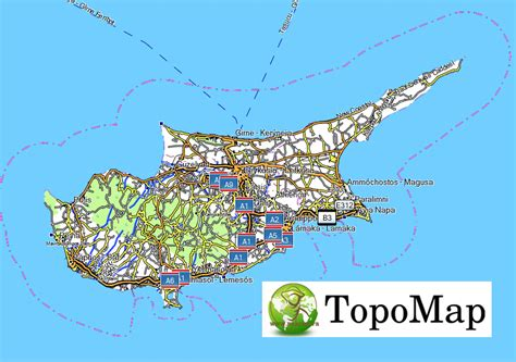 Carte Topographique Gratuite Garmin by Topo Garmin Chipre