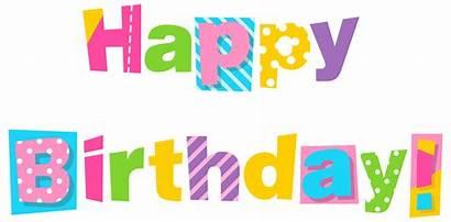 Birthday Happy Colorful Clipart Transparent Yopriceville Birth