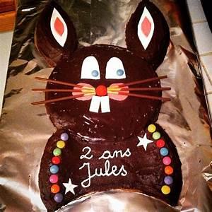 Gateau Anniversaire 2 Ans : g teau d 39 anniversaire lapin en chocolat 2 ans de jules ~ Farleysfitness.com Idées de Décoration