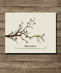personalized custom love bird family tree wall art by With kitchen cabinets lowes with custom family tree wall art