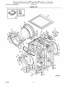 Parts For Electrolux Efls517siw0  Cabinet    Top Parts