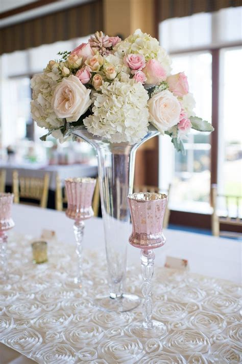 tall glass vases  spring bouquets  roses