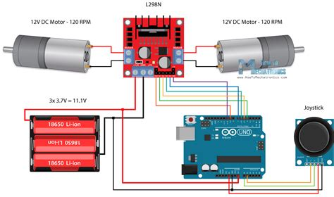 Large Gear Motor With Arduino Uno