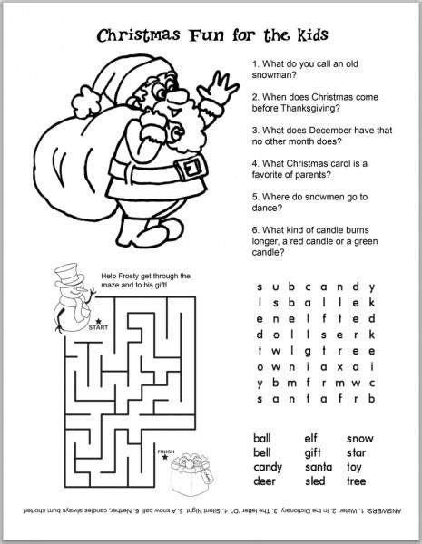 Top 10 Christmas Printables Best Free Games & Activities