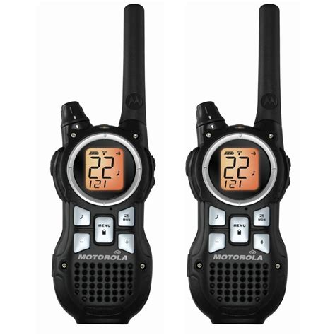 2 way radio range motorola mr350r 35 mile range 22 channel frs gmrs two way walkie talkie radios ebay