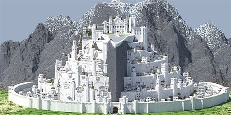grootste minecraft huis ter wereld j r r tolkien middle earth minecraft project
