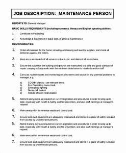 Senior Customer Service Job Description Free 9 Sample General Manager Job Descriptions In Pdf