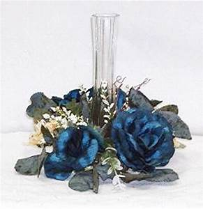 candle rings marine horizon blue wedding silk flowers With candle rings for weddings