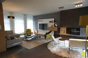 Deco salon salle a manger gris couleur deco salon deco for Deco cuisine avec salon et salle a manger design