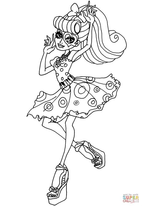 Monster High Operetta Coloring Page Free Printable