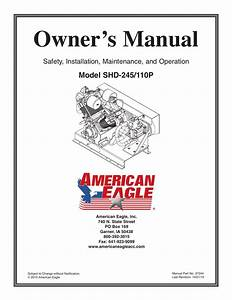 Owner U2019s Manual Model Shd 110p Safety  Installation