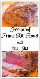 Foolproof Prime Rib Roast with Au Jus Syrup and Biscuits
