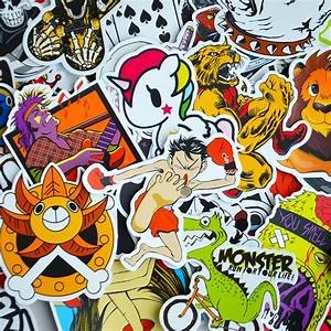 Car Styling Sticker Bomb Doodle Stickers Decals Skateboard ...