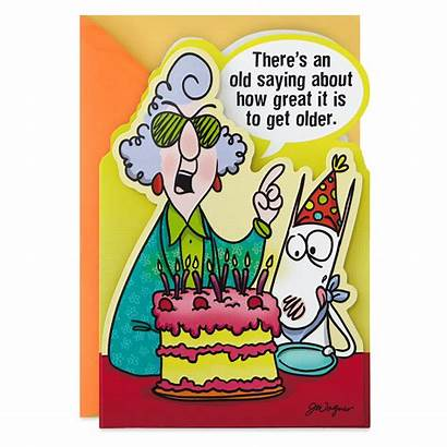 Maxine Birthday Card Hallmark Funny Cards Older